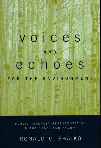 Voices and Echoes for the Environment
