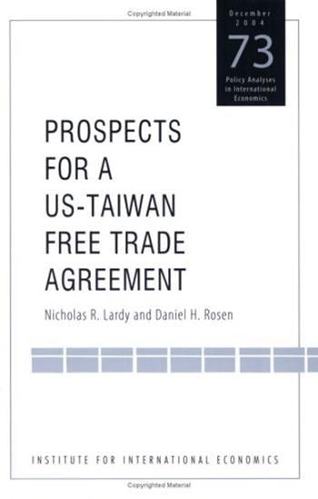 Prospects For A Us Taiwan Free Trade Agreement Columbia University