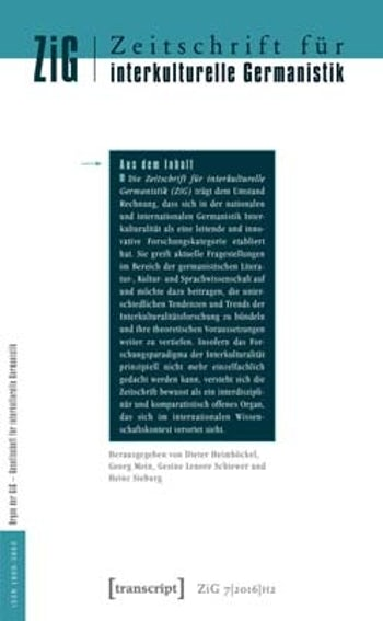 Zeitschrift für interkulturelle Germanistik (Journal of Intercultural German Studies)