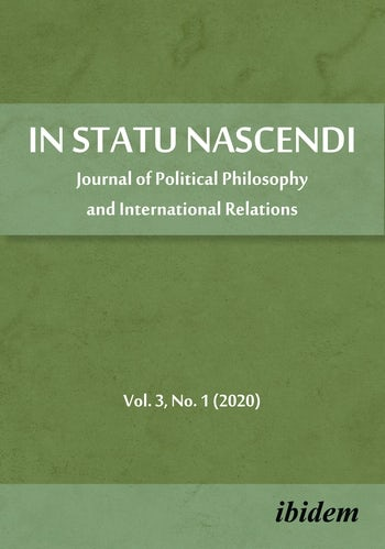 In Statu Nascendi Volume 3, No. 1 (2020)